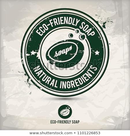 Alternatief milieuvriendelijk toiletpapier stempel eco twee Stockfoto © szsz