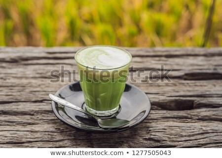 delicioso · gelo · café · madeira · velha · tabela · verão - foto stock © galitskaya