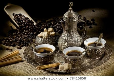 トルコ語 · コーヒー · ポット · 白 · キッチン · 暗い - ストックフォト © grafvision