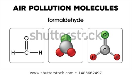 Diagram showing air pollution molecules of formaldehyde Stock photo © bluering