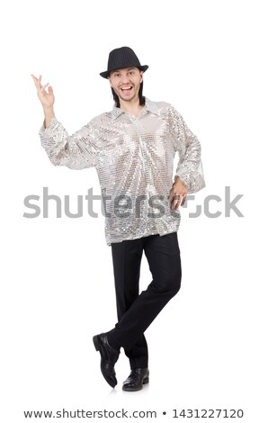 Performer in shiny costume isolated on white Stock photo © Elnur