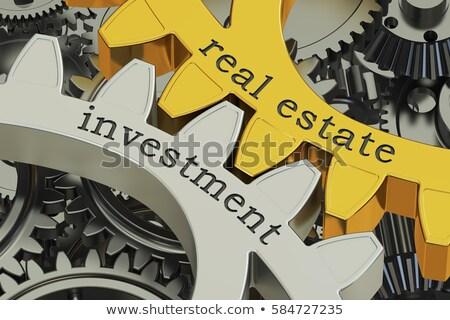 Befektetés ingatlan pénzügy emberek pénz vektor Stock fotó © robuart