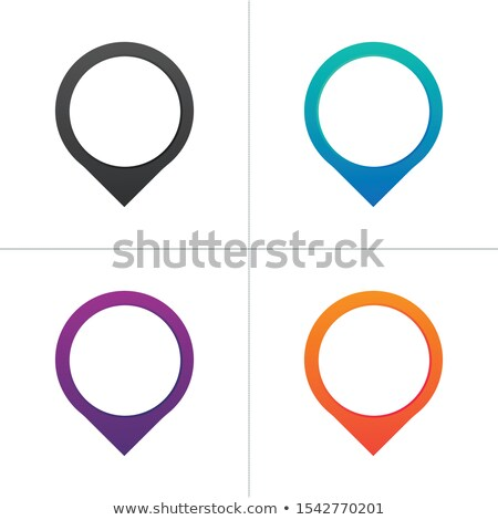 map pin icon with blank place for your text or icon. location concept. Stock Vector illustration iso Stock photo © kyryloff