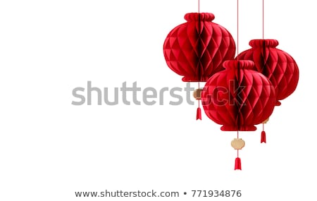 Background design with red lanterns Stock photo © bluering