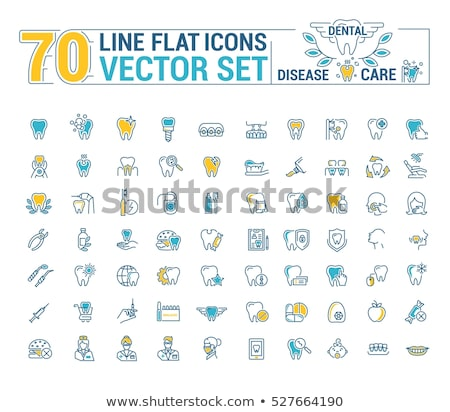 Dentist Teeth Cleaning Vector Thin Line Sign Icon Stock photo © pikepicture