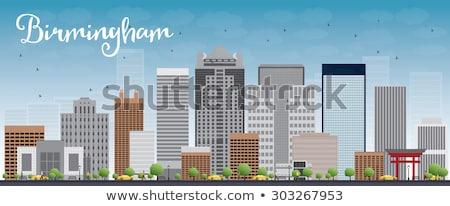 Birmingham (Alabama) Skyline with Grey Buildings and Blue Sky Stock photo © ShustrikS