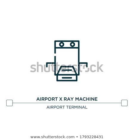 Bag Control Inspection Icon Vector Outline Illustration Stock photo © pikepicture