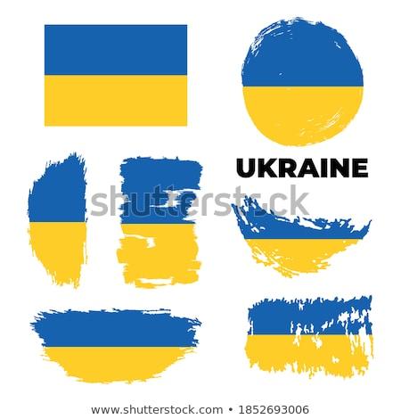 Grunge textured Ukrainian flag design. Stock Vector illustration isolated on white background. Stock photo © kyryloff