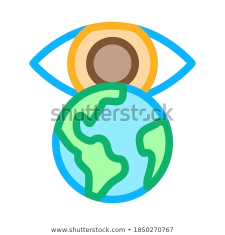 see world with your own eyes icon vector outline illustration Stock photo © pikepicture