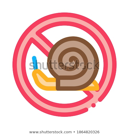 Crossed Snail Icon Vector Outline Illustration Stock photo © pikepicture