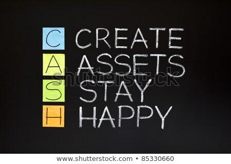 Cash Flow Business Concept On Sticky Note Stock photo © ivelin