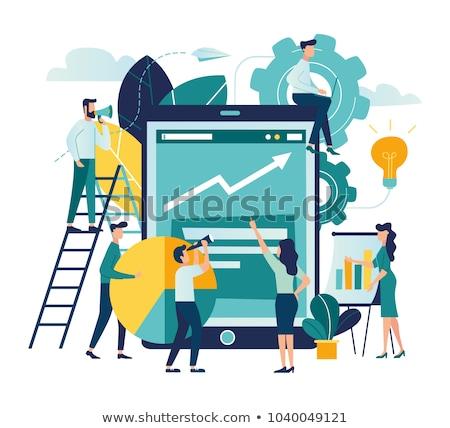 Contabilidade financiar gráfico relatório trabalhador vetor Foto stock © robuart