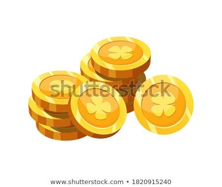 golden shamrock token coins set stock photo © adrian_n