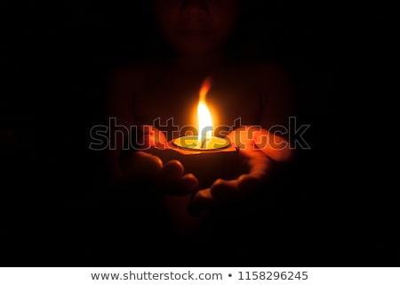 мало свечу изолированный контраст синий желтый Сток-фото © fxegs