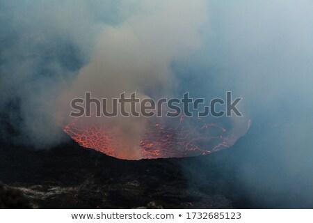 Volkan göl güney Şili kar Stok fotoğraf © fxegs