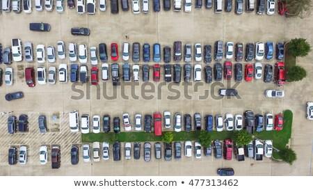 Stock photo: panorama of car`s parking