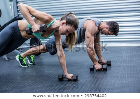 Couple working out with weights stock photo © photography33