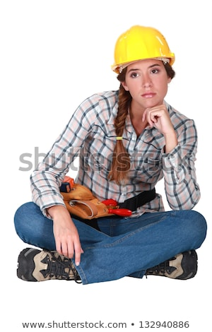 craftswoman looking sad and thoughtful Stock photo © photography33