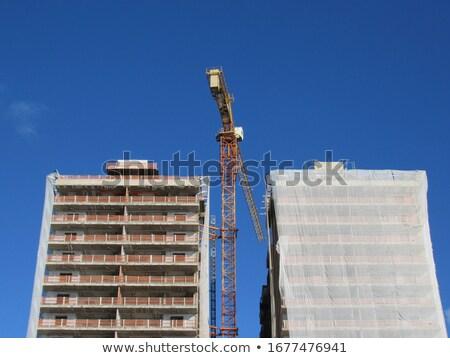 building under construction debris netting Stock photo © sirylok