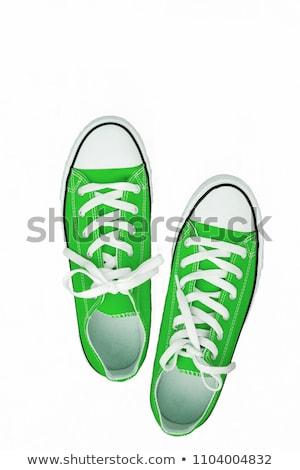 Yeşil çift ayakkabı soyut Stok fotoğraf © czaroot