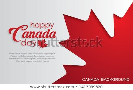 vlag · Quebec · Canada · stad · wind · land - stockfoto © zittto
