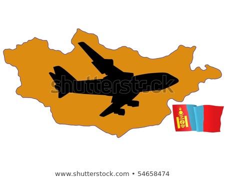 Légy engem Mongólia térkép repülőgép vidék Stock fotó © perysty