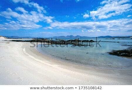 Verlaten strand landschap Schotland idyllisch zee Stockfoto © prill