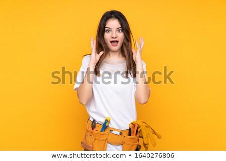Scared female artisan Stock photo © photography33