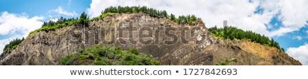 Słony wzgórza lata wody tekstury kamień Zdjęcia stock © igabriela
