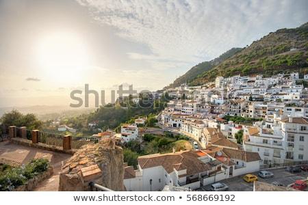 Kilátás város Spanyolország építészet tele fehér Stock fotó © CaptureLight