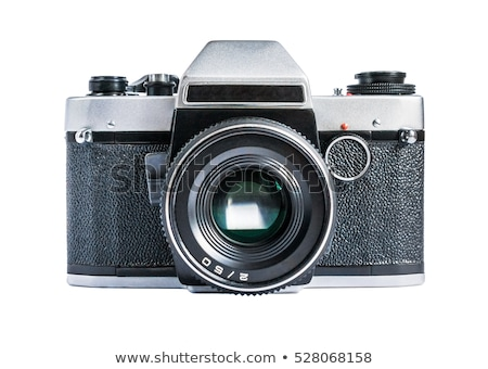 Régi fotó kamera izolált fehér fa doboz Stock fotó © jonnysek