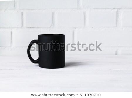 Mug caffè nero nero iscritto bere buio Foto d'archivio © wavebreak_media