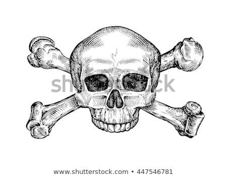 Os crâne cartoon noir homme Photo stock © Thodoris_Tibilis