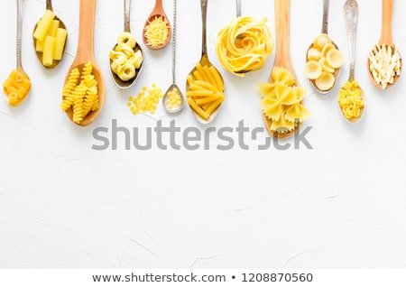various types of pasta on a white background stock photo © zerbor