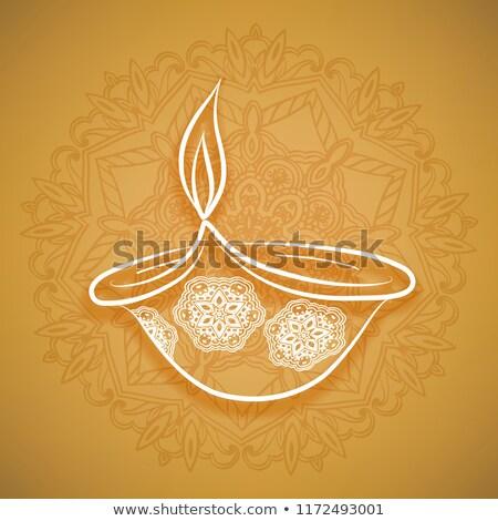 Gelukkig diwali festival viering kaart kleurrijk Stockfoto © bharat