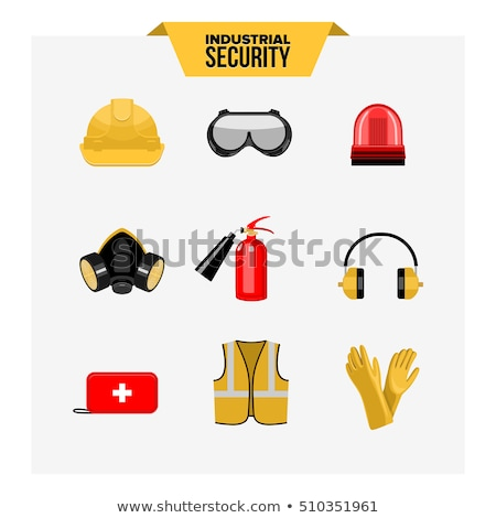 collection of personal safety glasses and mask Stock photo © pxhidalgo