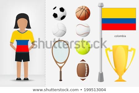 röplabda · kövér · játékosok · pingvin · 3d · render · sport - stock fotó © bosphorus