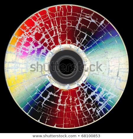 Uszkodzony płyta cd danych odizolowany biały komputera Zdjęcia stock © jonnysek