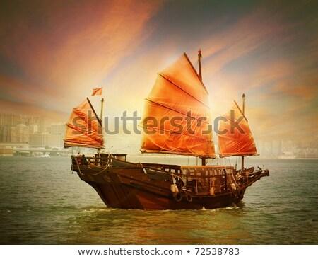 Boat floating to Hong Kong Stock photo © joyr