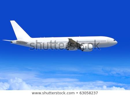 Repülőgép fehér rendkívül felhők repülőgép sebesség Stock fotó © ssuaphoto