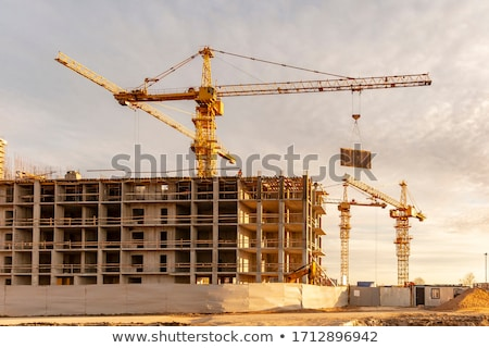 construction site with crane and building stock photo © cherezoff