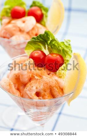 Gamba cóctel aperitivo pequeño tomates frescos Foto stock © raphotos