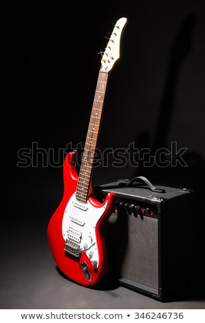 electric guitar and amplifier on stage Stock photo © goce