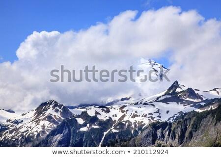 autoroute · neige · montagnes · paysage · nature · montagne - photo stock © billperry