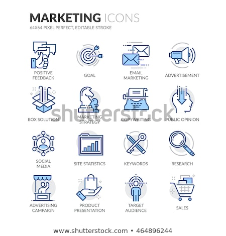 seo colored line icons stock photo © anatolym