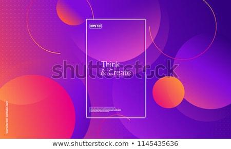 szivárvány · kör · minta · háttér · narancs · zöld - stock fotó © redshinestudio