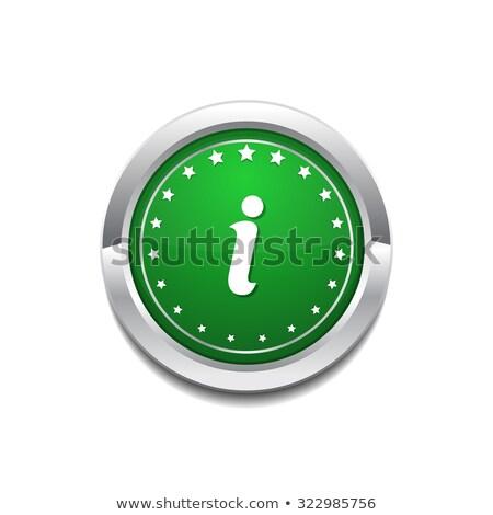 Info circulaire vecteur icône bouton internet Photo stock © rizwanali3d