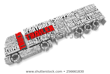3d words shaping a truck with trailer aerial front  Stock photo © vipervxw