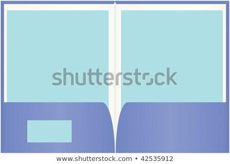 Lege kaart exemplaar ruimte zak achtergrond Blauw Stockfoto © ozaiachin