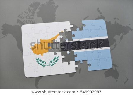 Europese unie Botswana vlaggen puzzel vector Stockfoto © Istanbul2009